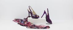 Step out wanting to make a statement in these Phantom purple sling-back stilettos designed for the girl who doesn't shy away from a little attention! Purple High Heels, S Signature, The Girl Who, Vibrant Colors, Kitten Heels, Shoes, Fashion, Vivid Colors, Shoes Outlet