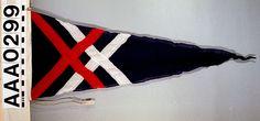 House flag, David MacBrayne Ltd - National Maritime Museum