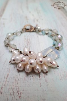 Q: My future mother-in-law gave me a beautiful string of pearls to wear on my wedding day. I was wondering why pearls are so often associated with weddings; Diamond Bracelets, Beaded Bracelets, Charm Bracelets, Necklaces, Bridal Bracelet, Pearl Bracelet, Etsy Jewelry, Jewelry Crafts, Modern Jewelry