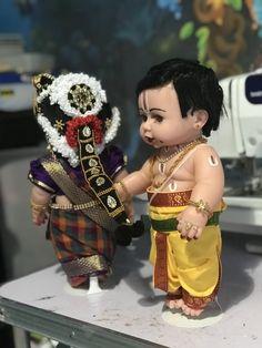 Doll Crafts, Diy Doll, Happy Anniversary Wishes, Wedding Doll, Indian Dolls, Beautiful Rangoli Designs, Wedding Flower Decorations, Cute Images, Cute Dolls