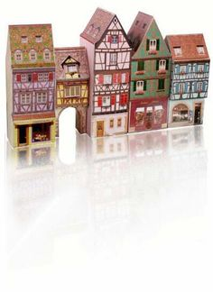 MiniatureVille: Paper Models - Papercrafts - Educative family game