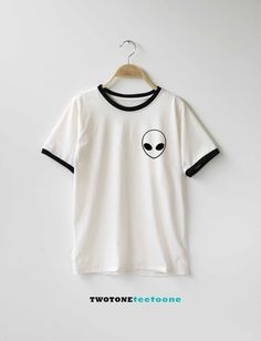 Alien Shirt TShirt T-Shirt T Shirt Tee by TwoToneTeeToOne on Etsy