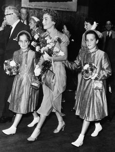 Joan Crawford with her twin daughters - Cathy and Cynthia in the later 50s