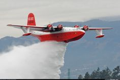 Coulson Flying Services, Martin Mars Flying boat / Fire Bomber.  This and its sister ship are the last 2 remaining Flying Boats Built by Martin During WWII.  They are the largest Production Flying Boats ever built.