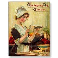 Vintage Thanksgiving Postcard  I