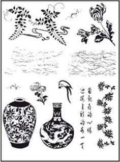 Artemio Clear Stamp Set - Chinese Vases - 10001167