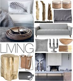 """Gray & Wood"" by emmy on Polyvore"