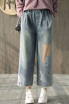 cf20eafe961 Women Casual Loose Jeans Spring Cowboy Pants K1354