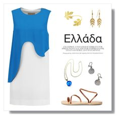 """""""Elláda 🌀🔱"""" by laras03 ❤ liked on Polyvore featuring Emilio Pucci, Ancient Greek Sandals and Cathy Waterman"""