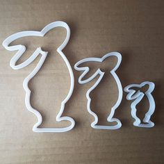 Rabbit Shape Cutter. Colour may vary. Small: approx. 3.5cm x 5.6cm x 1cm deep - 0.5mm cutting edge. 5.8cm x 9.5cm x 1cm deep -0.5mm cutting edge. | eBay!