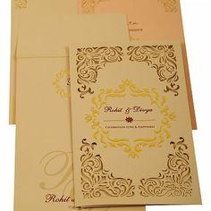 Muslim Wedding Cards, Muslim Wedding Invitations, Wedding Invitation Cards, Do The Needful, Some Cards, Laser Cutting, Peach, Detail, Shop