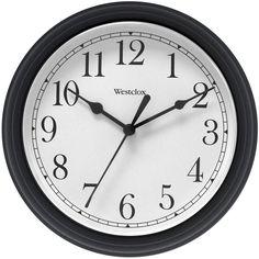 Westclox 9.5-inch Black Decorative Wall Clock (Glass)