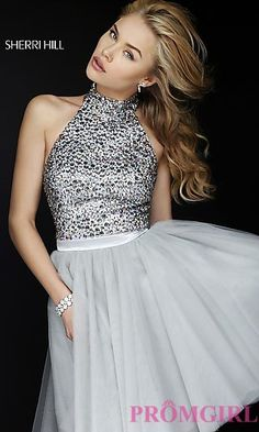 Short Sherri Hill Homecoming Dress at PromGirl.com
