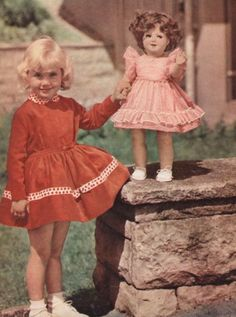 Looks like another little girl was fooled into thinking she got a Shirley Temple doll.