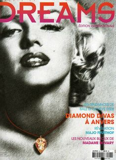 World of Dreams - April 2008, magazine from France. Front cover photo of Marilyn Monroe by Frank Powolny, 1953.