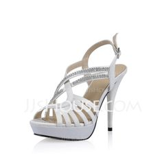 Pumps - $59.99 - Silk Like Satin Stiletto Heel Platform Slingbacks Sandals Pumps With Rhinestone (085025549) http://jjshouse.com/Silk-Like-Satin-Stiletto-Heel-Platform-Slingbacks-Sandals-Pumps-With-Rhinestone-085025549-g25549