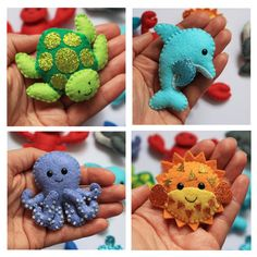 Sea Creatures felt softies pdf pattern by sewsweetuk on Etsy