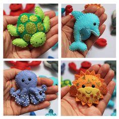 Sea Creatures felt softies pdf pattern by sewsweetuk on Etsy