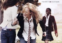 HILFIGER. tags: blazer, blonde, elegance, girl, ivy league, jacket, jeans, necktie, preppy,    shirt, smart casual, suit, tie