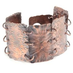You can make this beautiful bracelet!  Come check out the Hammered Textured Metal online class at Beaducation. #jewelry #tutorial