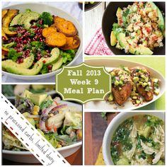 Fall 2013 Week 9 meal Plan no processed carbs, limited dairy.jpg