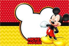 Continuando a atualizar os kits mais antigos e que não tem os novos moldes, vejam que lindo o NOVO e super completo kit do Mickey Mouse para você realizar a sua festa com o tema! Esse Kit tem tudo para você fazer sua festa sozinha, com várias molduras, imagens, convites e rótulos, você pode imprimir emMore