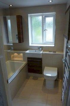 Ideal small bathroom layout only. Sink next to bath. Chrome wall radiator by door. Tiles & colour let it down. Small Bathroom Layout, Small Bathroom Storage, Simple Bathroom, Bathroom Ideas, Small Bathrooms, Bathroom Organization, 1950s Bathroom, Narrow Bathroom, Small Baths