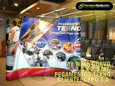 "Backing Display Wall Curvo ""Pegamentos TEKNO"" CLIENTE: CPPQ S.A."