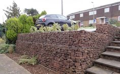 Low Cost gabion retaining wall Cheaper than block stone gabion walls are easy to build  http://www.gabion1.co.uk