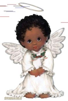 Posted byaiat AM Black Angels, Angel Pictures, Pintura Country, Mystique, Anime Angel, Afro Art, Watercolor Animals, Christmas Pictures, Black Art