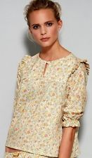 NADINOO pixie's frill blouse top claire aude liberty of london print xs s $166