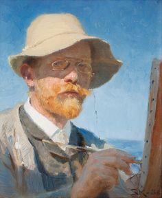Danish artist Peder Severin Kröyer 1851- Self-portrait 1909. Bukowskis International auction 2013