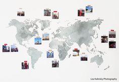 Wall decal watercolor world map (gray) wall-art.de Wall decal watercolor world map (gray) World Map Decor, World Map Wall, Watercolor World Map, World Map Photo, Travel Wall Decor, Office Wall Decals, Polaroid Wall, Grey Wall Art, Tumblr Rooms