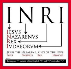 I always wondered what the letters INRI on crucifixes stood for! Jesus the Nazarene, King of the Jews. Catholic Beliefs, Catholic Quotes, Catholic Prayers, Bible Scriptures, Bible Quotes, Religion Catolica, Bible Knowledge, Religious Education, Faith
