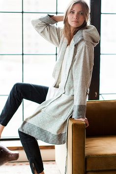 Great pair of leggings, comfy flats and wrapped up in this sweater - perfect. pinterest.com/gramercysocial #brandconcierge