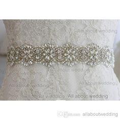 Glass Rhinestone Crystal Bridal Belt 2014 New Style Pearl Wedding Dress Sash Accessory Prom Evening Dress Tie Back From Allaboutwedding, $38.64 | Dhgate.Com