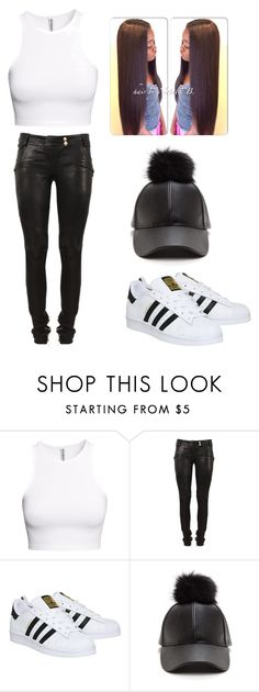 """""""🤔"""" by lexiswagg on Polyvore featuring H&M, Balmain and adidas"""