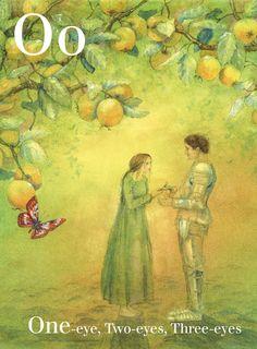 26 Alphabet Grimm's Fairy Tales Wall Cards illustrated by Daniela Drescher