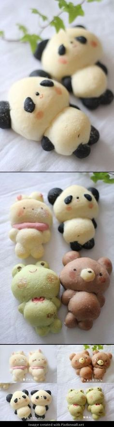 Pin Them All: Cute Bread from Japanese site. No recipe http://sadoucir.exblog.jp/18040186