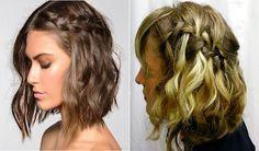 Inspirações de tranças para cabelos curtos