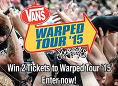 Win 2 Tickets to Warped Tour 2015 from Music Existence!