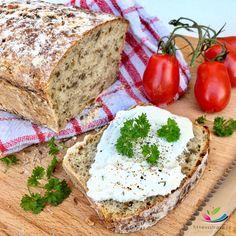 Domácí chleba česnekový se semínky a kmínem Fritters, Camembert Cheese, Banana Bread, Food And Drink, Cooking Recipes, Baking, Desserts, Struktura, Fashion