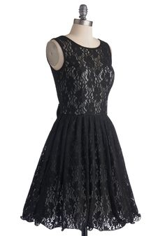 Attending a Wedding in June  Cherished Celebration Dress in Black, #ModCloth