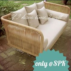 Morning with cream... #sofa #furniture #wicker #handcrafted #Thai #factory