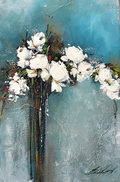 Abst y flores – Artofit Hydrangea Painting, Oil Painting Flowers, Abstract Flowers, Painting & Drawing, Watercolor Paintings, Impressionist Paintings, Art Oil, Flower Art, Canvas Art