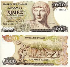 Greece Drachmae banknotes for sale. Dealer of quality collectible world banknotes, fun notes and banknote accessories serving collectors around the world. Over 5000 world banknotes for sale listed with scans and images online. French West Africa, Belgian Congo, African States, St Pierre And Miquelon, First Day Covers, World Coins, Coin Collecting, Greece, Get Rich Quick Schemes