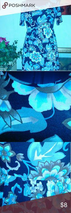 ZIG ZAG STRIPE DRESS TUNIC ZIG ZAG STRIPE DRESS TUNIC , has floral print, elastic waist zig zag stripe Tops Tunics