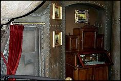 Steampunk bedroom decor ideas, DIY,  curtains, world maps, inpiration, art house, ceiling fans, switch plates, hot air ballon posts, candle holders, window, libraries, link colour, duvet covers, gothic, texture, book, pipe bed, garage, night stands for new atmosphere of your bedroom.