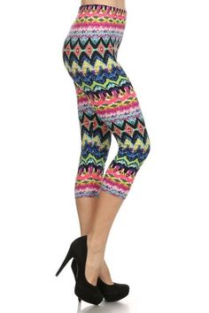 Get your groove on in our Technicolor Dream Capri's. Care Instructions Machine wash cold in a laundry sack and hang to dry. You Got This, Size 2, Capri Pants, Product Description, Spandex, Leggings, Lady, Fashion, Moda