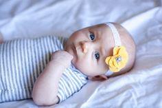 Baby headband, yellow and grey baby headband, yellow headband, Yellow baby headband, yellow and grey nursery, grey headband